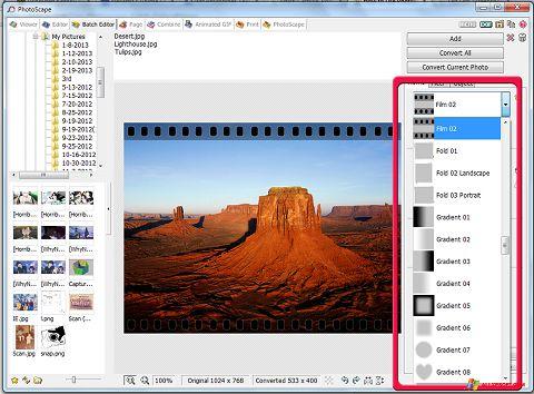 Screenshot PhotoScape für Windows XP