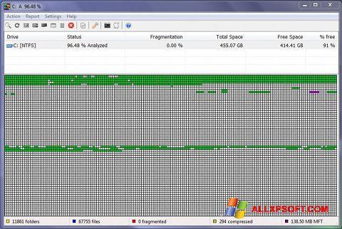 Screenshot UltraDefrag für Windows XP