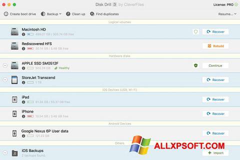 Screenshot Disk Drill für Windows XP