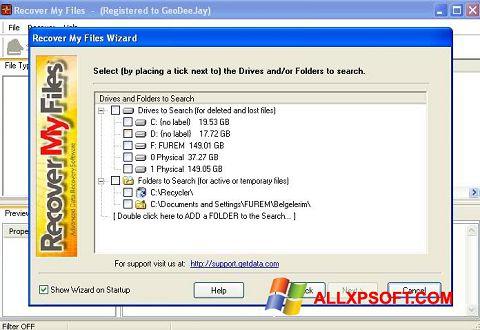 Screenshot Recover My Files für Windows XP