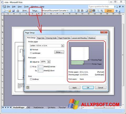 Screenshot Microsoft Visio für Windows XP