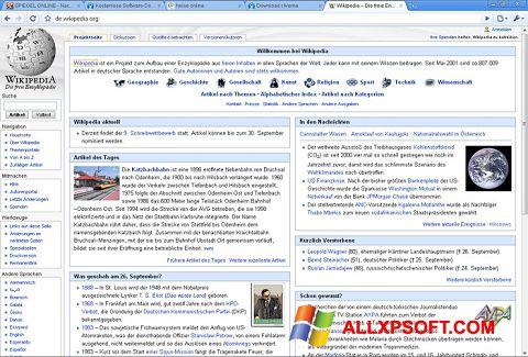 Screenshot SRWare Iron für Windows XP