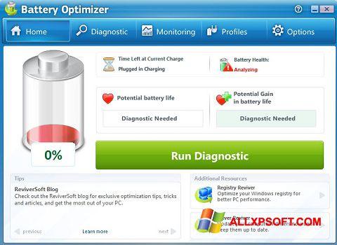 Screenshot Battery Optimizer für Windows XP