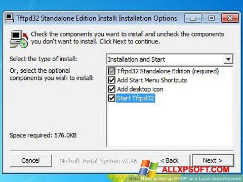 Screenshot Tftpd32 für Windows XP