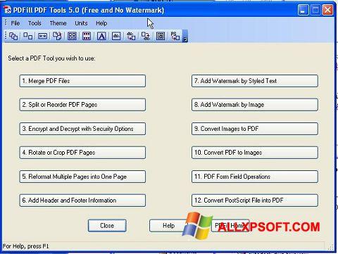 Screenshot Pdf995 für Windows XP