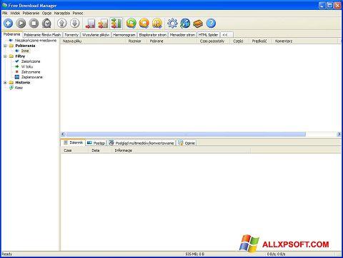 Screenshot Free Download Manager für Windows XP