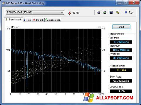 Screenshot HD Tune für Windows XP