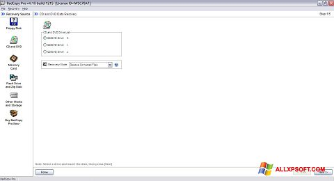 Screenshot BadCopy Pro für Windows XP