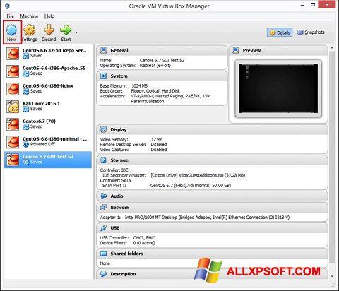 Screenshot VirtualBox für Windows XP