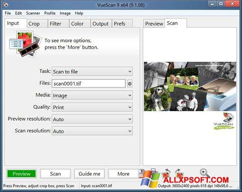 Screenshot VueScan für Windows XP