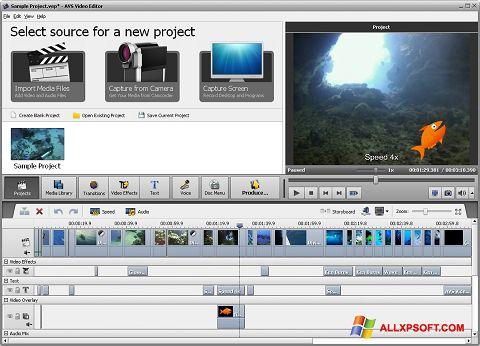Screenshot AVS Video Editor für Windows XP