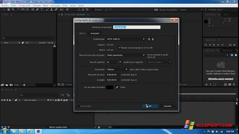 Screenshot Adobe After Effects CC für Windows XP