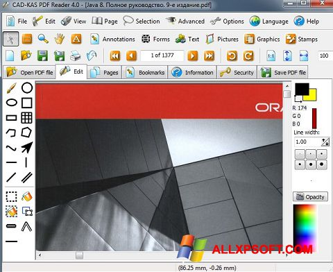 Screenshot PDF Reader für Windows XP