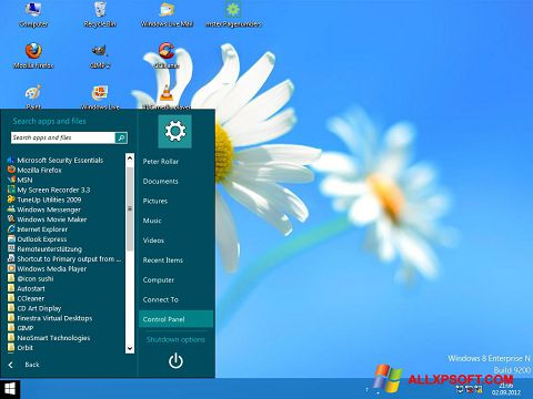 Screenshot ViStart für Windows XP