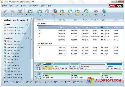 Screenshot MiniTool Partition Wizard für Windows XP