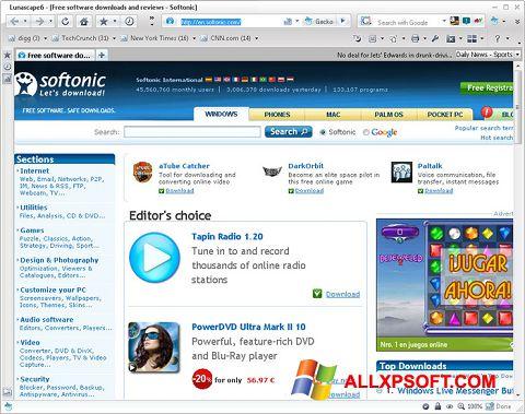 Screenshot Lunascape für Windows XP
