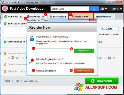 Screenshot Fast Video Downloader für Windows XP