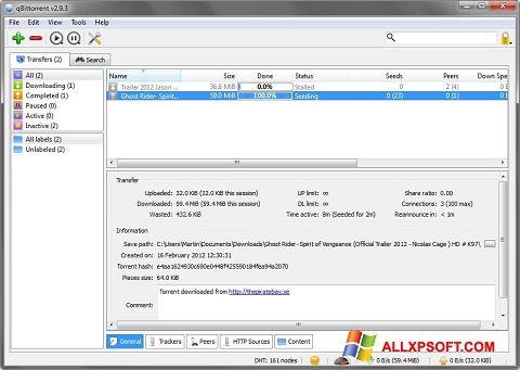 Screenshot qBittorrent für Windows XP