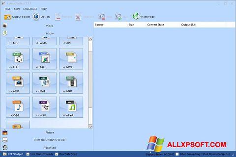 Screenshot Format Factory für Windows XP