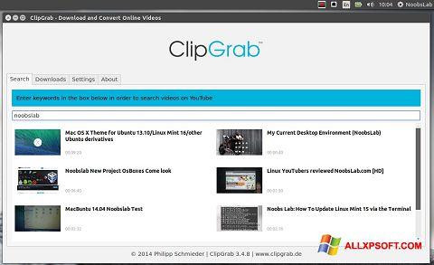 Screenshot ClipGrab für Windows XP