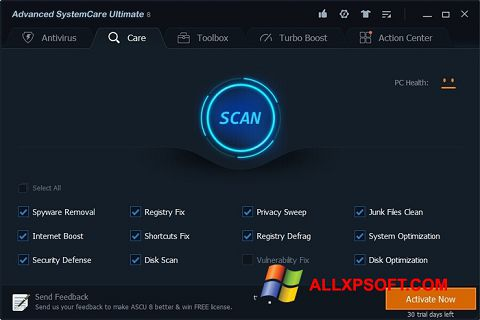 Screenshot Advanced SystemCare Ultimate für Windows XP