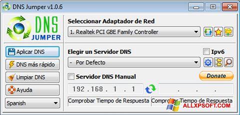 Screenshot DNS Jumper für Windows XP