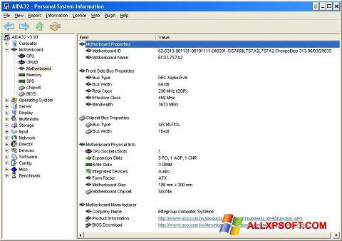 Screenshot AIDA32 für Windows XP