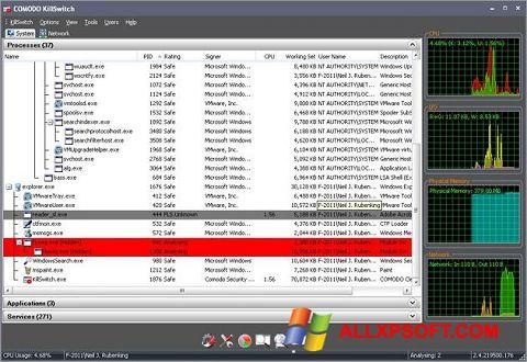 Screenshot Comodo Cleaning Essentials für Windows XP