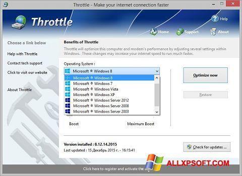 Screenshot Throttle für Windows XP