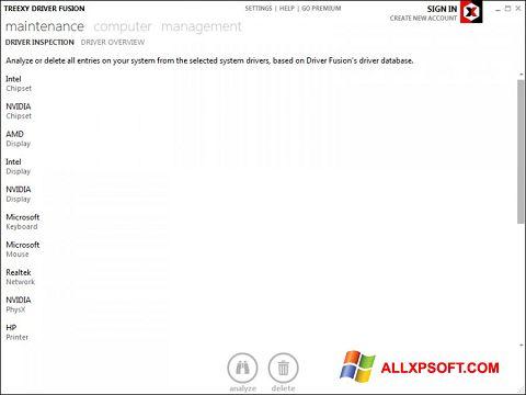 Screenshot Driver Fusion für Windows XP