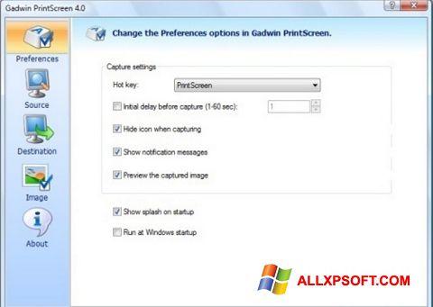 Screenshot Gadwin PrintScreen für Windows XP