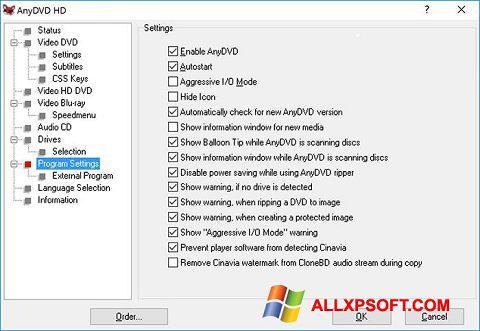 Screenshot AnyDVD für Windows XP