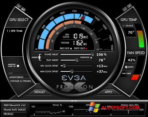 Screenshot EVGA Precision X für Windows XP