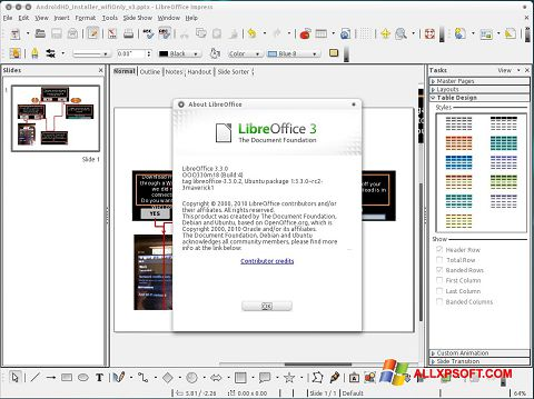 Screenshot LibreOffice für Windows XP