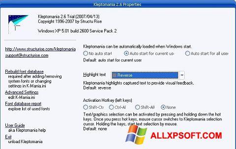 Screenshot Kleptomania für Windows XP