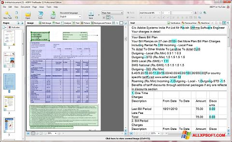 Screenshot ABBYY FineReader für Windows XP