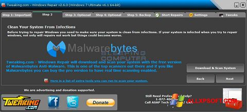 Screenshot Windows Repair für Windows XP