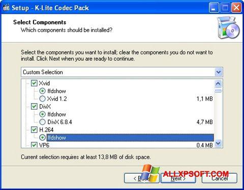 Screenshot K-Lite Codec Pack für Windows XP