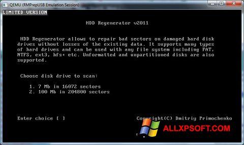 Screenshot HDD Regenerator für Windows XP