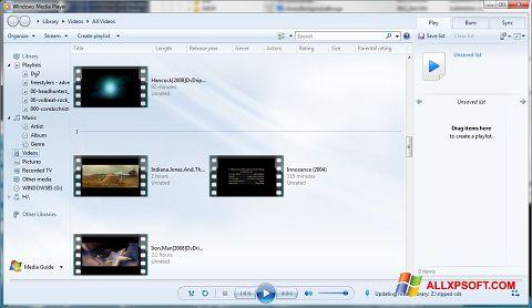 Screenshot Media Player für Windows XP