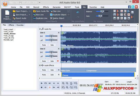 Screenshot AVS Audio Editor für Windows XP