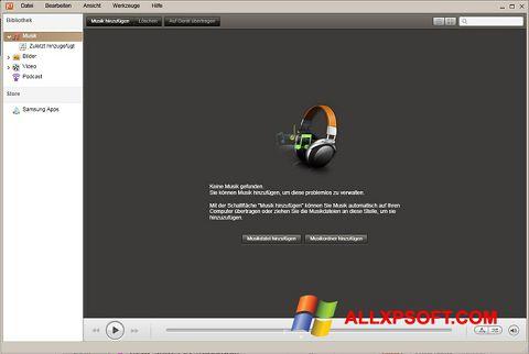 Screenshot Samsung Kies für Windows XP