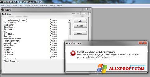 Screenshot VirtualDub für Windows XP