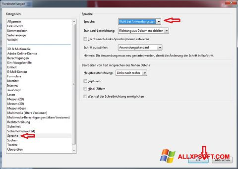 Screenshot Adobe Reader für Windows XP