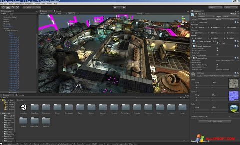 Screenshot Unity 3D für Windows XP