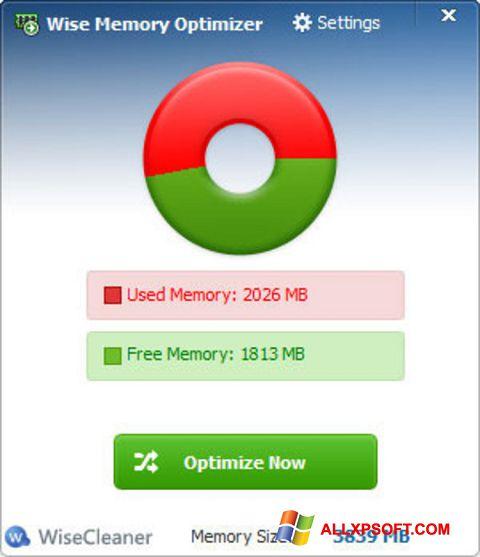 Screenshot Wise Memory Optimizer für Windows XP