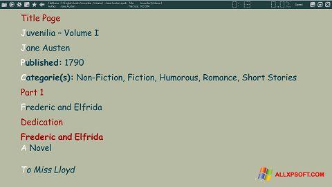 Screenshot ICE Book Reader für Windows XP