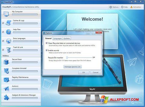 Screenshot CleanMyPC für Windows XP
