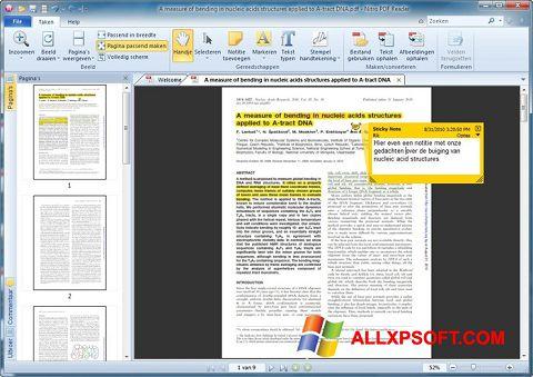 Screenshot Nitro PDF Reader für Windows XP