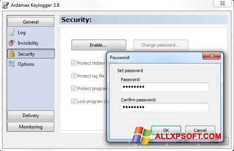 Screenshot Ardamax Keylogger für Windows XP